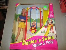 Mattel 1998 Barbie Giggles N Swing Barbie and Kelly  NIB
