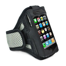 iPhone 4 4S GREY Strong ArmBand Case Cover For SPORTS GYM BIKE JOGGING RUNNING