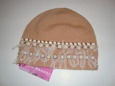 Alice Hannah Lambswool Embellised Beanie Hat (2260)