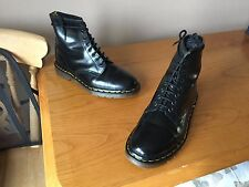Vintage Dr Martens 1460 Black leather boots UK 9 EU 43 England skin goth biker