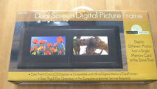 """NEW 7"""" Dual Screen Digital Picture LCD Frame DPF770 w/Remote, USB, SD card slot"""