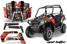 NEW AMR GRAPHICS KIT POLARIS RZR 800 800S 2007-10 RED MADHATTER Full Kit NEW