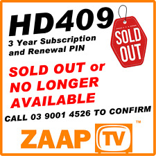 ZAAPTV HD409 - Renew your Expired device for 3 Years    SOLD OUT