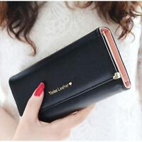 Lady Synthetic Leather Women Wallet Purse Credit Card Clutch Holder Long Handbag