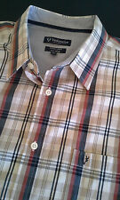 VEDONEIRE Mens Long Sleeve Plaid Shirt size 2XL Casual Fit FREE SHIPPING