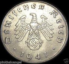 Germany - German Third Reich - German 1941F Reichspfennig Coin -Real WW 2 Coin