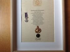 Royal Marines Oath Of Allegiance Cap Badge And Miniature Medal Afghanistan War