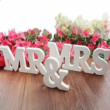 Wooden letters MR & MRS wedding or annivarsary props, great for decor and photo