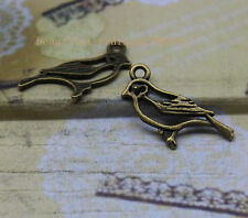 Free shipping 25pcs bronze  Alloy delicate lovely hollow out bird charm pendant