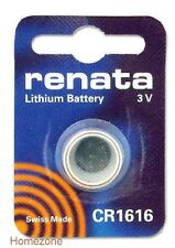 Renata Swiss Made Lithium CR1616 Cell Coin Button Battery 3V Trendy  x 1