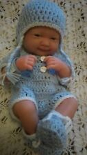 """Hand made clothes set for 14"""" LA new born berenguer  cup cake reborn baby doll"""