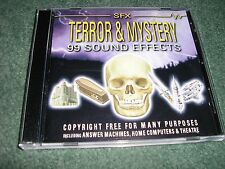 SOUND EFFECTS SPECIAL CD 'TERROR & MYSTERY' 99 SOUNDS ON THIS NEW CD BUY NOW!!