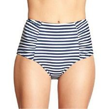 Old Navy XS Nwt High Waisted Stripe High Rise Bikini Swimsuit Bottom 0 2 XS