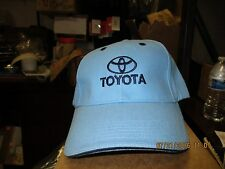 "TOYOTA-LIGHT BLUE CAP W/ ""TOYOTA"", LOGO & EYELETS IN DARK BLUE/NAVY-BUCKLE"