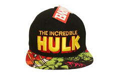 THE INCREDIBLE HULK BLACK SNAPBACK HIP HOP HAT CAP .. NEW