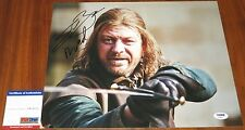 Sean Bean Signed 11x14 Game of Thrones w/Character Name Ned PSA/DNA