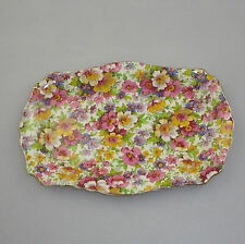 Vintage James Kent Old Foley Chintz Cake Plate - DuBarry