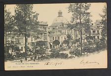 2506.-CARTAGENA -Plaza de San Francisco  (1906) (POSTAL SIN DIVISIÓN)
