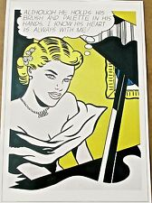 Roy Lichtenstein Girl At the Piano Pop Art Poster 16.5X12 Unsigned