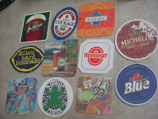 10 DIFFERENT BEER COASTERS MIKE'S HARD LEMONADE, SARANAC, FOSTERS+ FREE USA SHIP