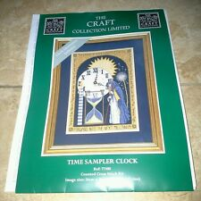 Dimensionsthe craft collection cross stitch chart time sampler-horloge religieuse