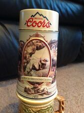 "7"" Beer Stein Coors Rocky Mountain Legend Series 1994 MINT"