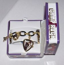 Disney Camp Rock Black & Gold Charm Bracelet Watch NIB