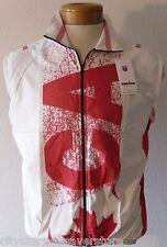 NWT K-Swiss Mens Canada Sleeveless Cycling Triathlon Windvest S White MSRP$75