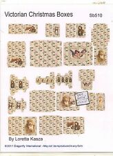 Kit - Victorian Christmas Boxes Sheet  SB510 dollhouse Dragonfly 1/12 scale wood