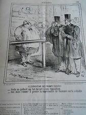 Caricature 1865 Grasalard expo champs élysées l'homme sur la volaille