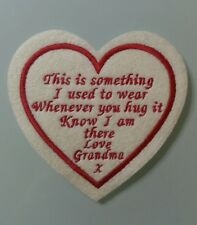 """Heart Memory/memorial patch. """"This is something I used to wear, love Grandma"""""""