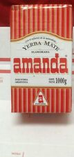 YERBA MATE AMANDA Hard Pack 1KG or 2.2LB- ARGENTINA