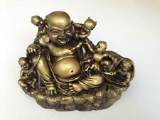 FENG SHUI LAUGHING BUDDHA WITH CHILDRENS STATUE FIGURE