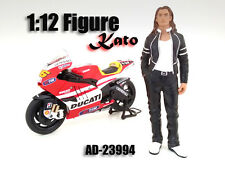 BIKER KATO FIGURINE FIGURE FOR 1/12 SCALE MOTORCYCLES AMERICAN DIORAMA 23994