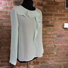 John Lewis frill ruffle Top / blouse  size 12 soft green