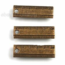 80pcs New Wholesale Tool Ruler Charms Antique Bronze Alloy Pendant Findings C