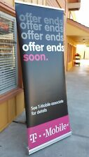 Retractable Roll Up Banner Stand w/ High Quality Metal Frame 30'' x 80''
