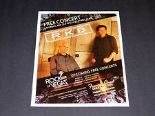 """Robby Krieger Band Las Vegas Concert Event Matted Ad / Poster 15"""" x 12""""  RARE!"""