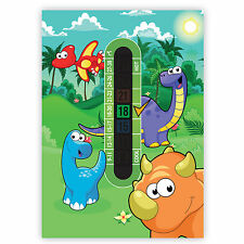 A6 Nursery and Childrens Dinosaur Room Thermometer