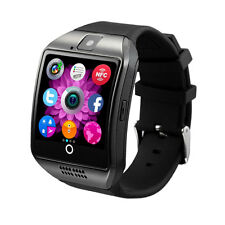 Q18 Bluetooth SIM TF Card Smart Watch for Android & iOS Camera NFC Black