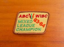 ABC WIBC Mixed League Champion 83-84 1983 1984 Bowling Pins Embroidered Patch