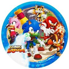 Sonic Boom Round Edible Birthday Cake Topper Frosting Sheet Decoration
