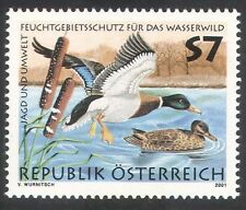 Austria 2001 Mallards/Ducks/Wetlands/Conservation/Hunting/Birds 1v (b1592)