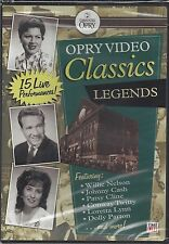 OPRY VIDEO CLASSICS LEGENDS Willie Robbins Dolly Cline Cash Faron Gibson NEW DVD