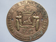 03C1 ANCIEN BADGE PLAQUE INSIGNE AUTOMOBILE CLUB BELFORT & FRANCHE COMTE 1930