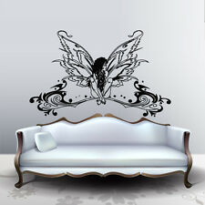 Wall Decal Elf Girl Fairy Wings Butterfly Beauty Nude Magic vinyl decor M244