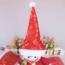 @2016 Hot Red Christmas Holiday Cute Xmas Cap For Santa Claus Gifts Nonwoven