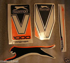 SLAZENGER V1000 PREMIER (ORANGE)  Cricket bat Stickers - 1 Full SET