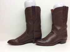 WOMEN LUCCHESE COWBOY LEATHER BROWN BOOTS SIZE 6.5 B
