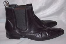 Hugo Boss Boots Mens Black Leather Short Dress Boots 9